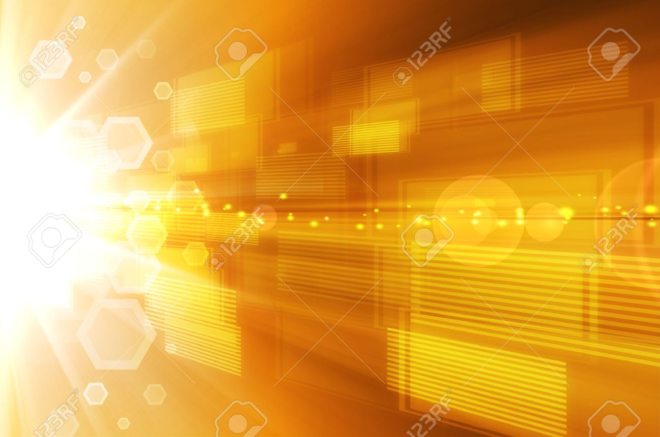 Abstract yellow technology background. Stock Photo - 15074388