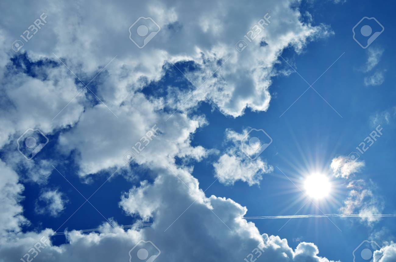 blue sky with clound and sun Stock Photo - 17168755