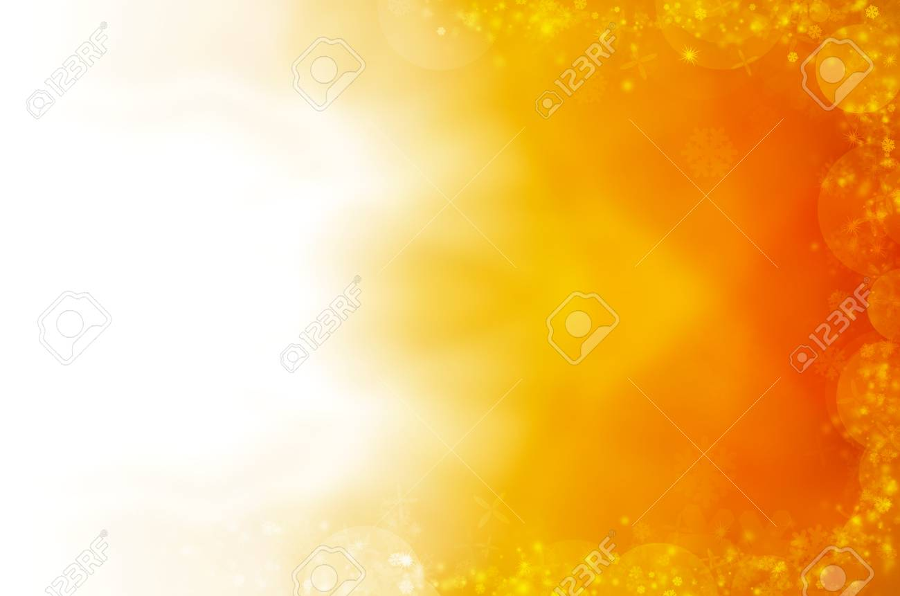 abstract yellow background of christmas light Stock Photo - 17450768