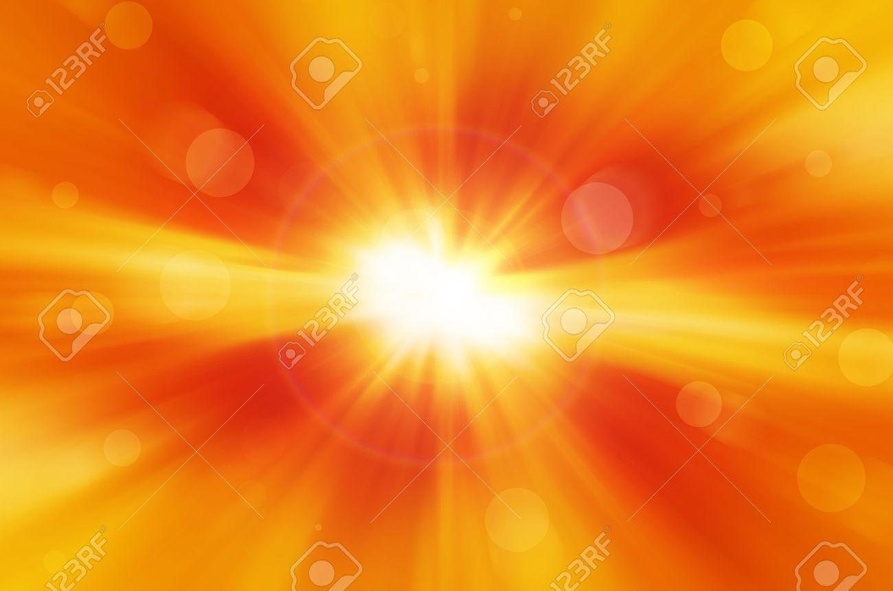 yellow background with warm sun and lens flare Stock Photo - 18914814
