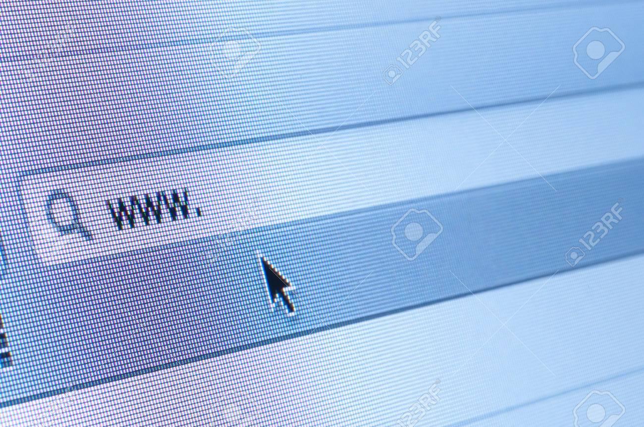 Internet address, computer screen Stock Photo - 14666051