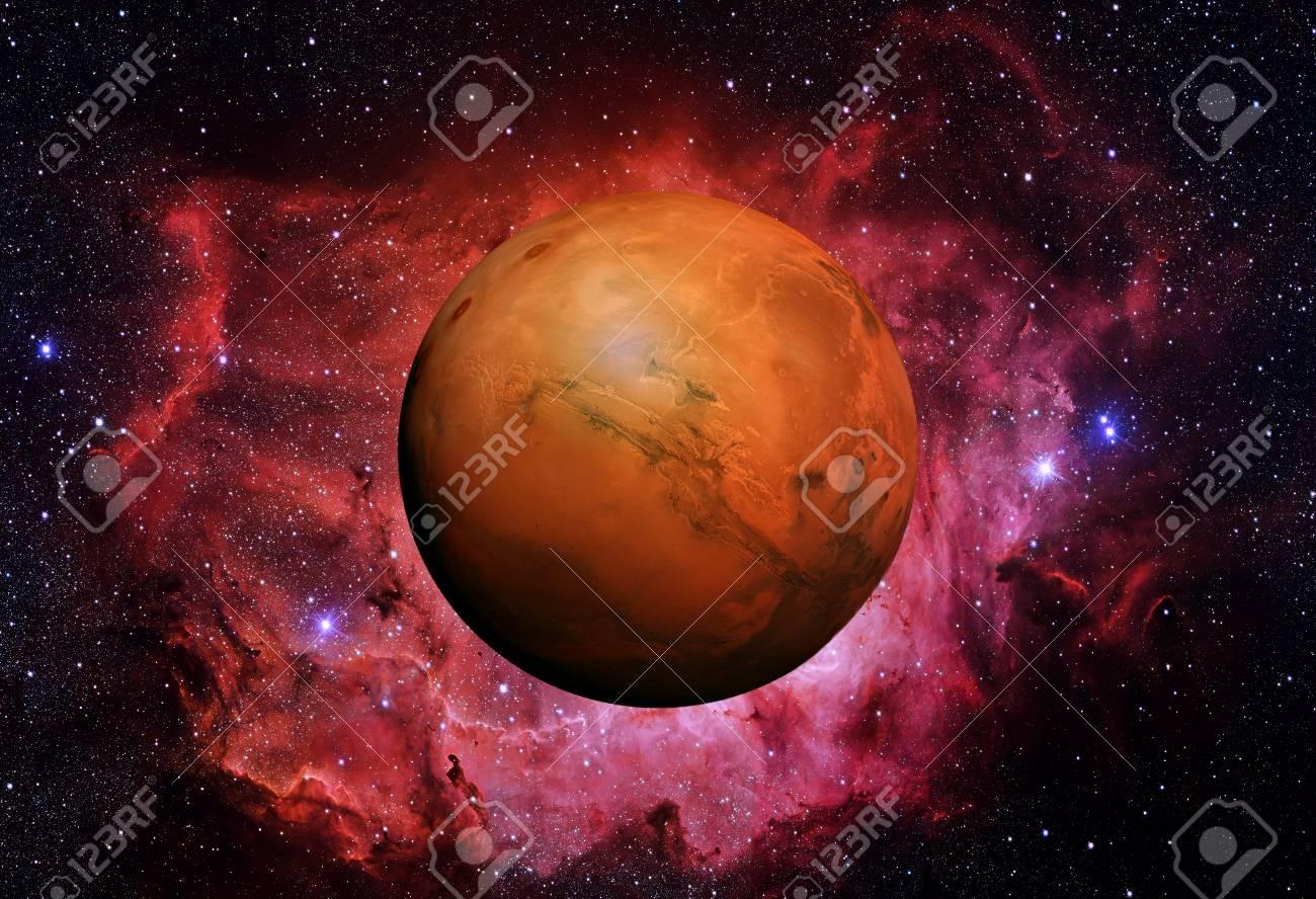 Sistema Solar - Marte. Es El Cuarto Planeta Desde El Sol. Marte Es ...