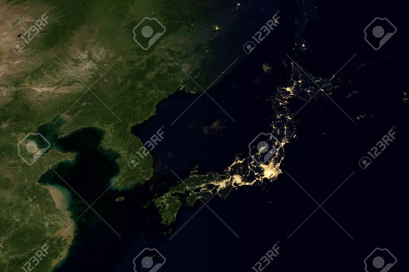 City lights on world map japan stock photo picture and royalty city lights on world map japan stock photo 71684372 gumiabroncs Choice Image