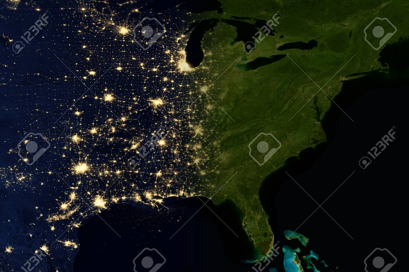 City lights on world map north america elements of this image city lights on world map north america elements of this image are furnished by gumiabroncs Image collections