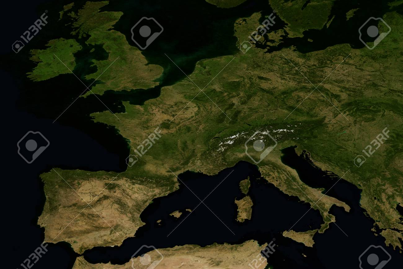 city lights on world map europe stock photo 74262934