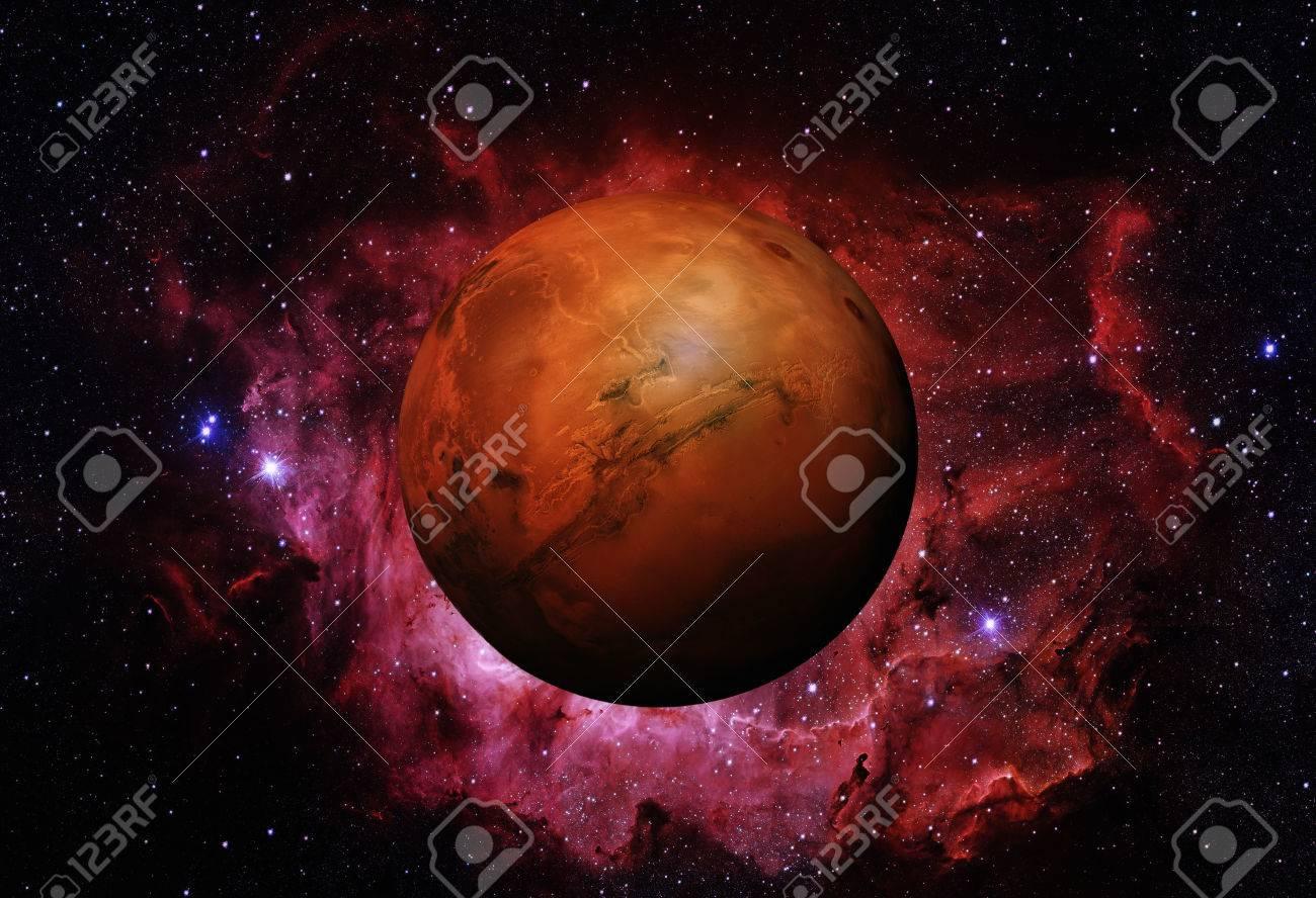 Sistema Solar - Marte. Es el cuarto planeta del Sol. Marte es un planeta  terrestre con una delgada atmósfera, con cráteres, volcanes, valles, ...