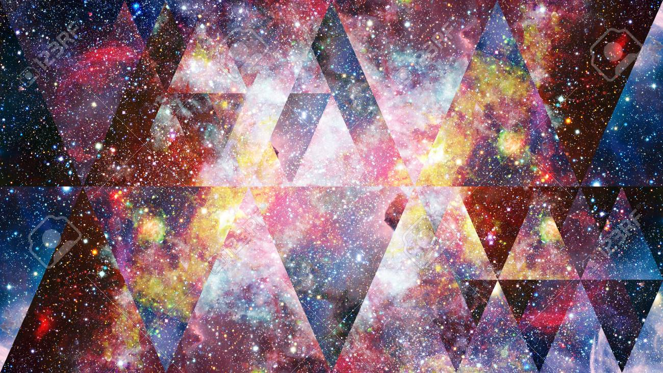 Universe, Nebula, Galaxy And The Sacred Geometry Collage. Abstract.. Stock  Photo, Picture And Royalty Free Image. Image 96777502.