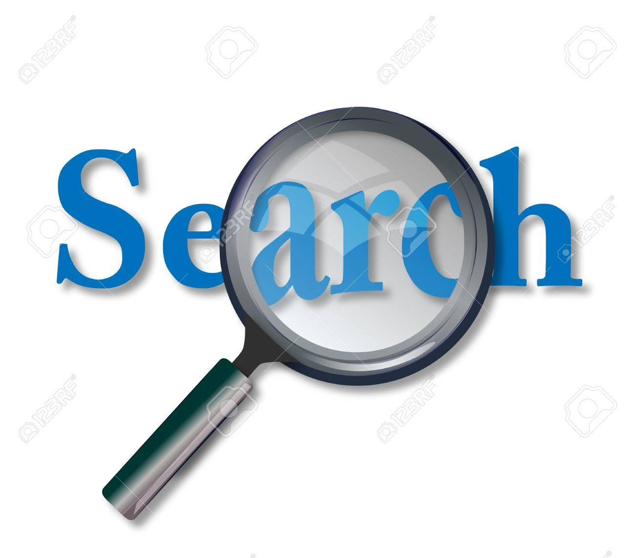 Concept of web site search with magnifying glass Stock Photo - 9181943