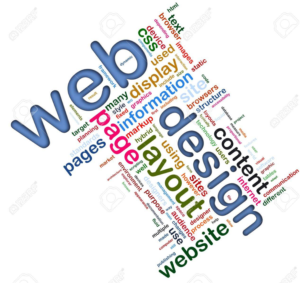 Living Room Designing Pictures words in a wordcloud of web design concept designing stock photo designing