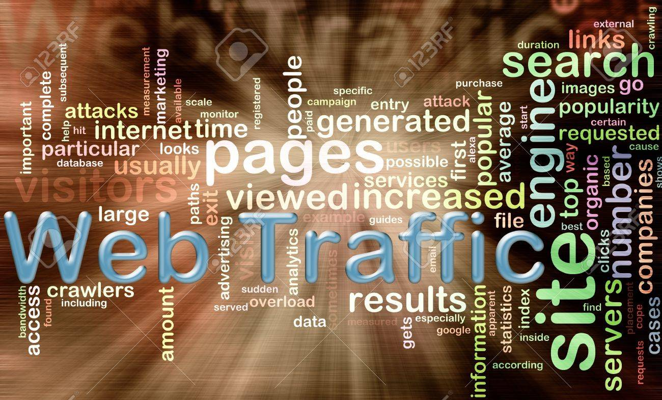 words in the Wordcloud related to 'web traffic' Stock Photo - 10027962