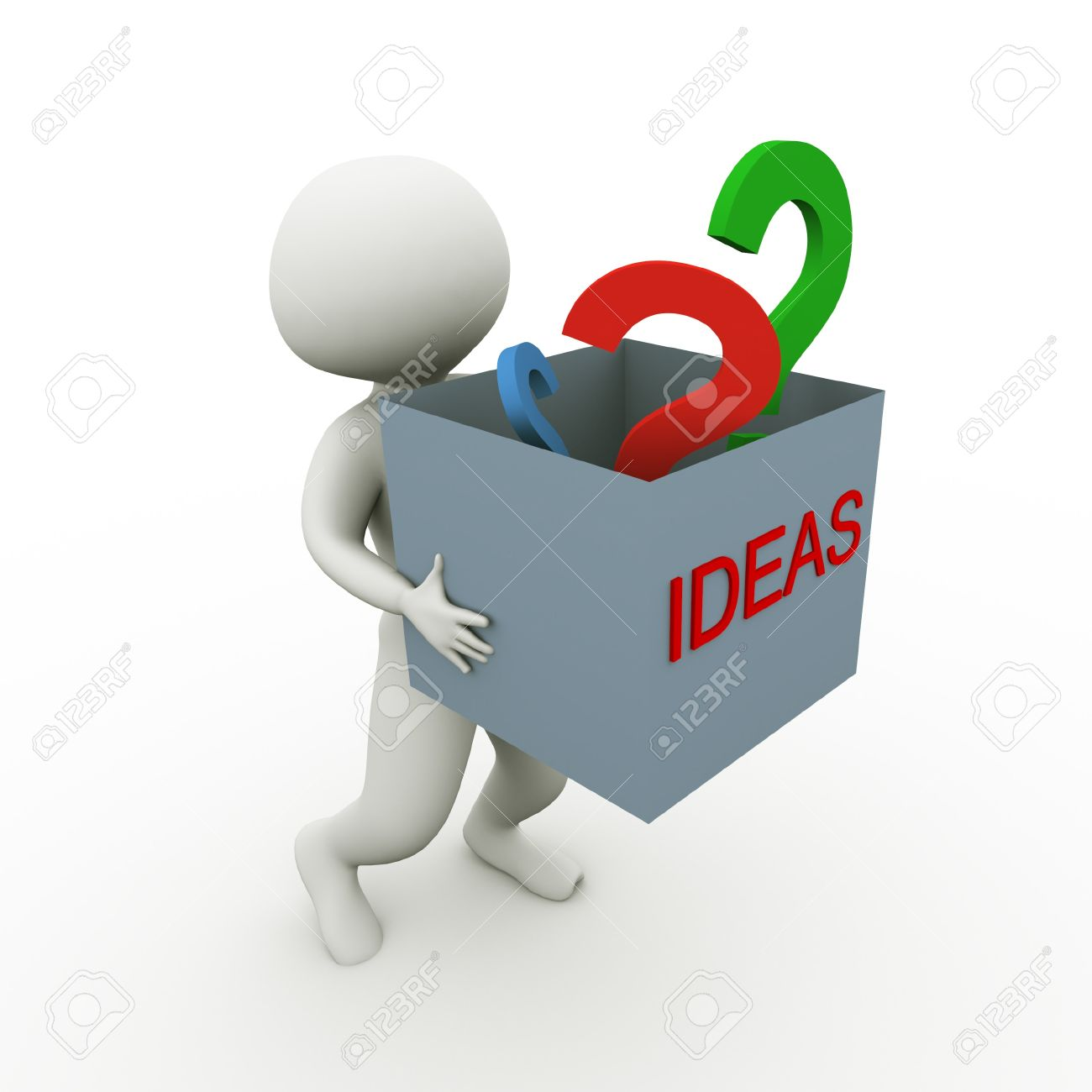 3d man carrying box fill ideas and questions stock photo 3d man carrying box fill ideas and questions stock photo 10326732