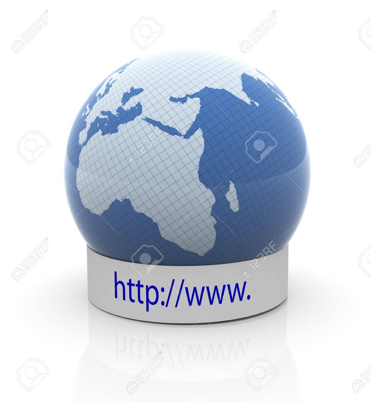 3d render of globe with http://www text Stock Photo - 10345727