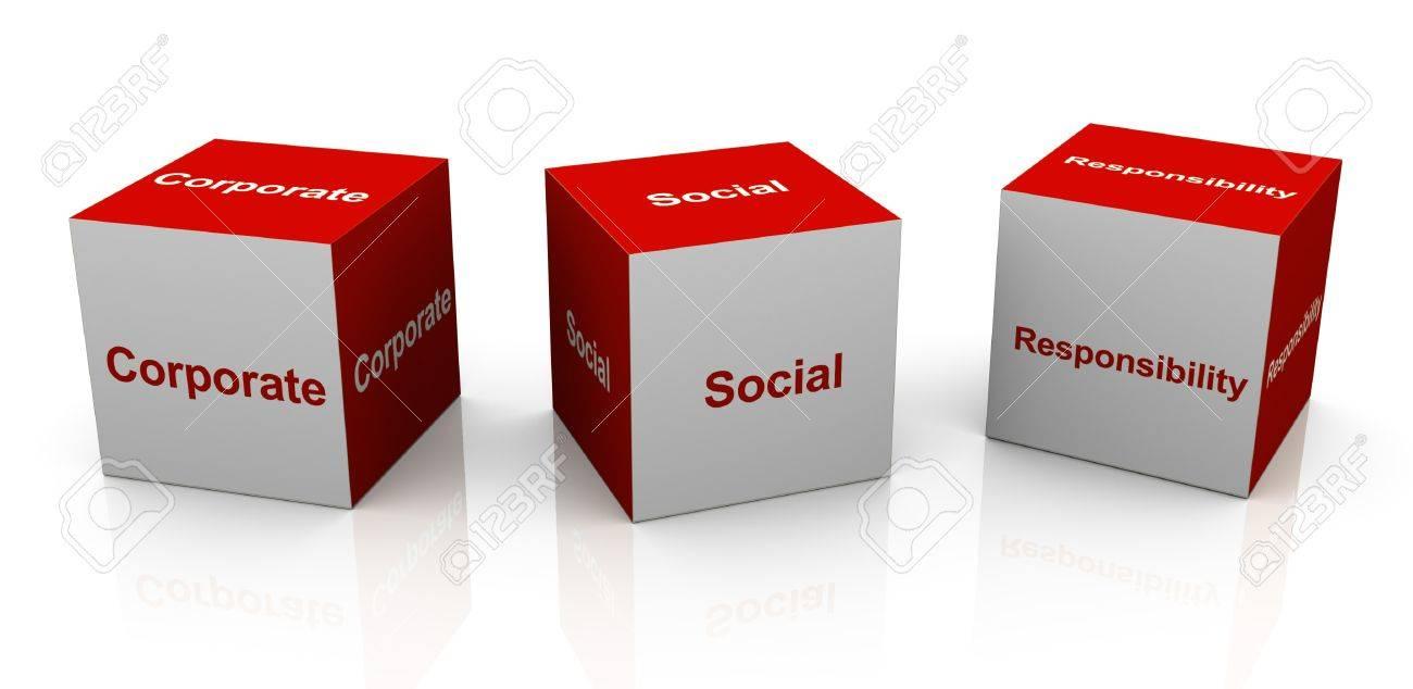 3d text cubes of buzzword csr - Stock Photo - 10552482