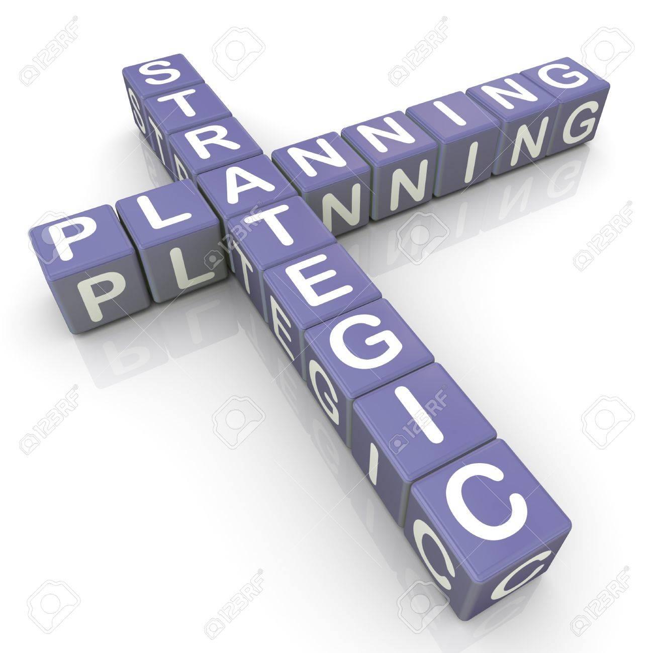 3d render of strategic planning crossword Stock Photo - 11404247