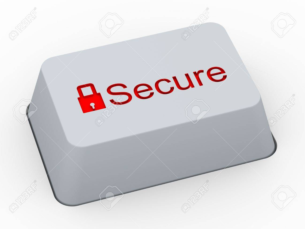 3d render of computer keyboard button with word secure and symbol 3d render of computer keyboard button with word secure and symbol of padlock stock photo biocorpaavc