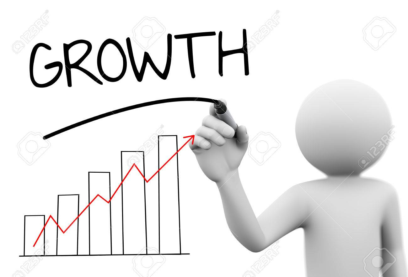 3d rendering of man drawing business arrow growth progress graph 3d rendering of man drawing business arrow growth progress graph bar chart diagram and word growth ccuart Choice Image