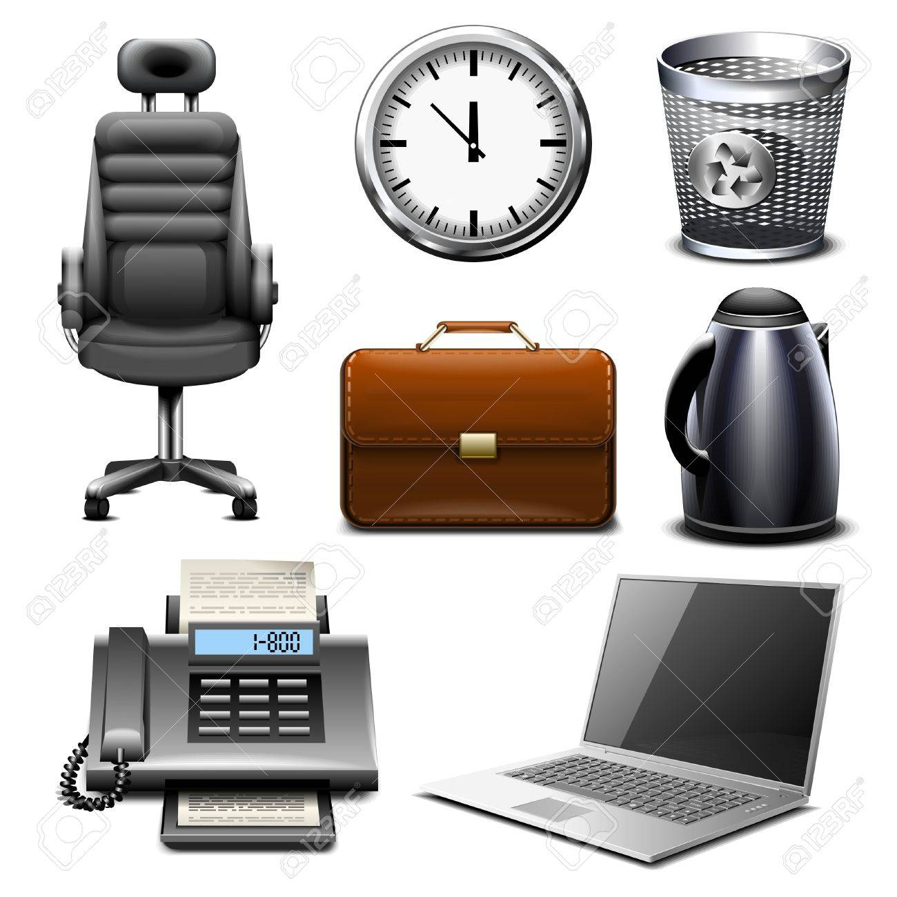 office icon set part 2 Stock Vector - 7710137