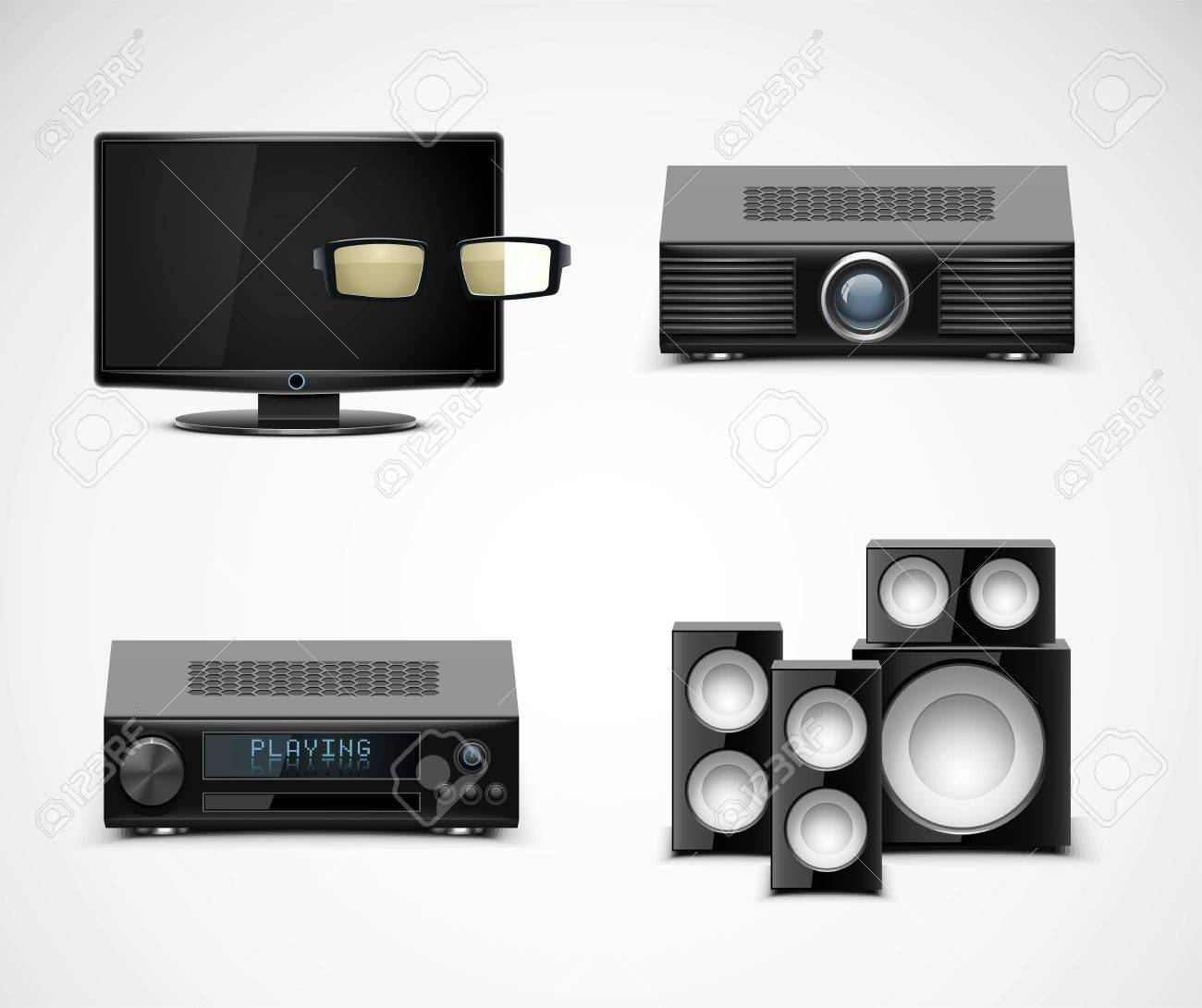 home electronics vector icons Stock Vector - 14850423