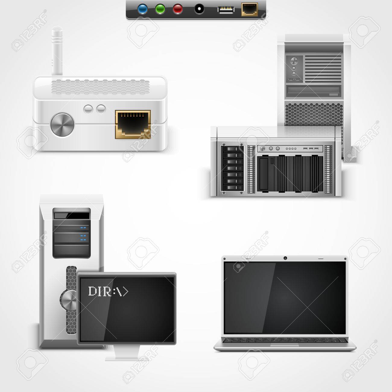 server and networking vector icons Stock Vector - 14850453