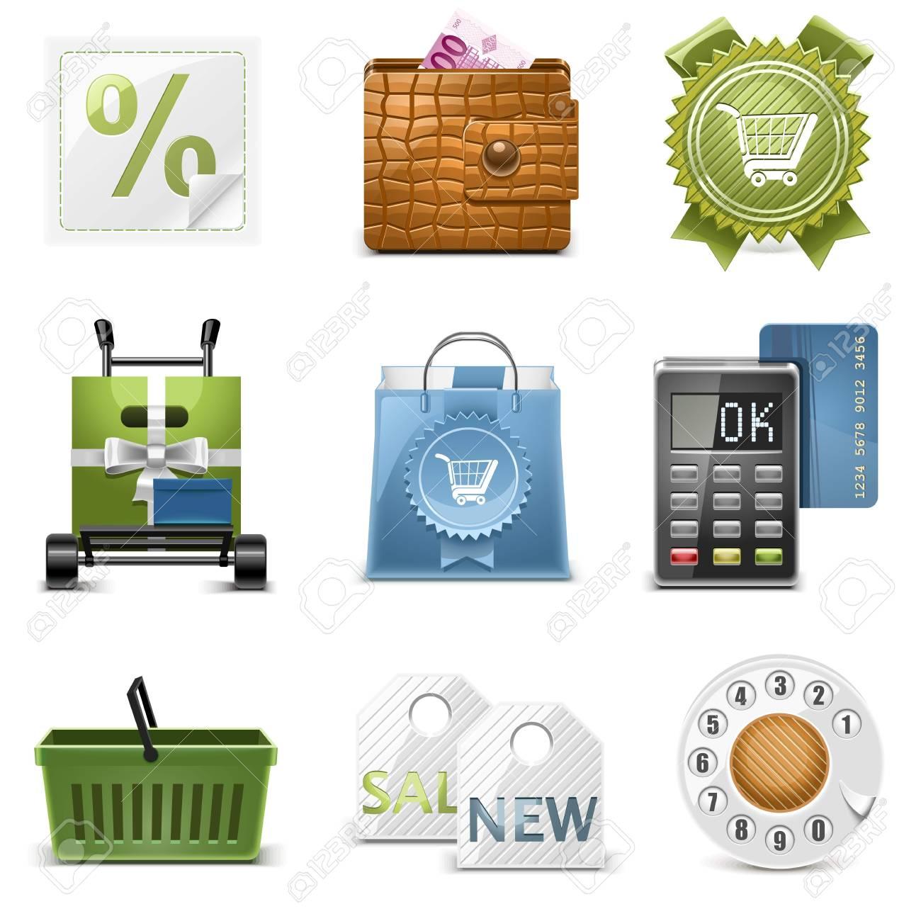 shopping vector icons Stock Vector - 14850442