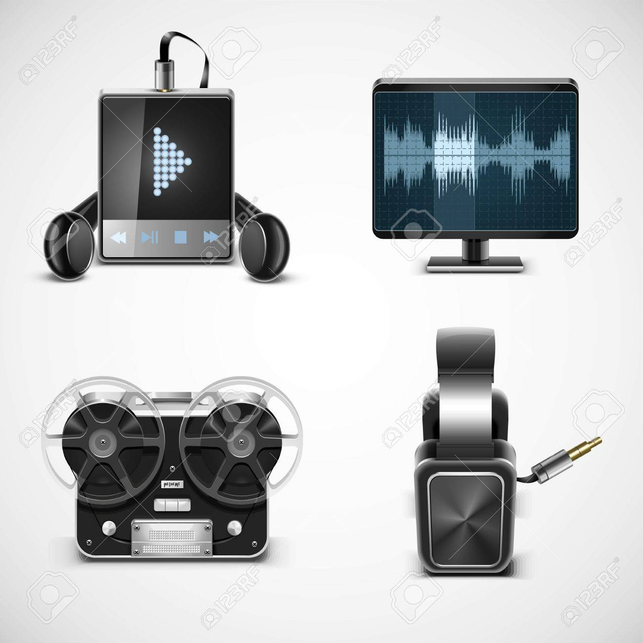 sound equipment vector icons Stock Vector - 14850446
