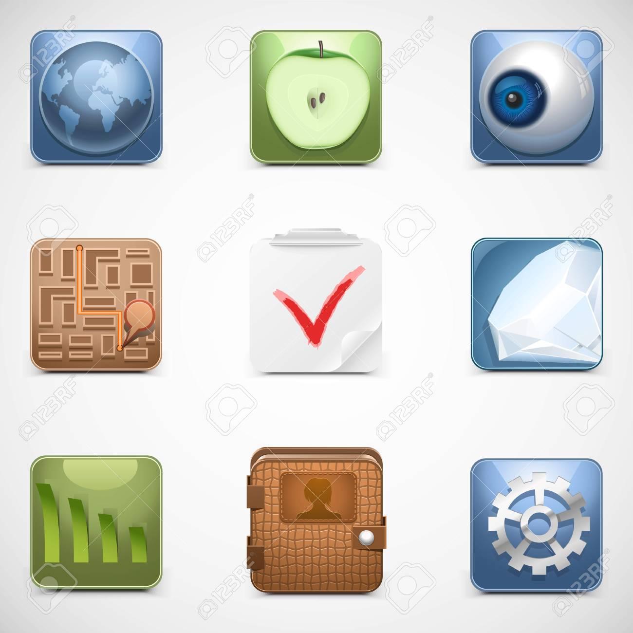 universal web vector icons Stock Vector - 14850418