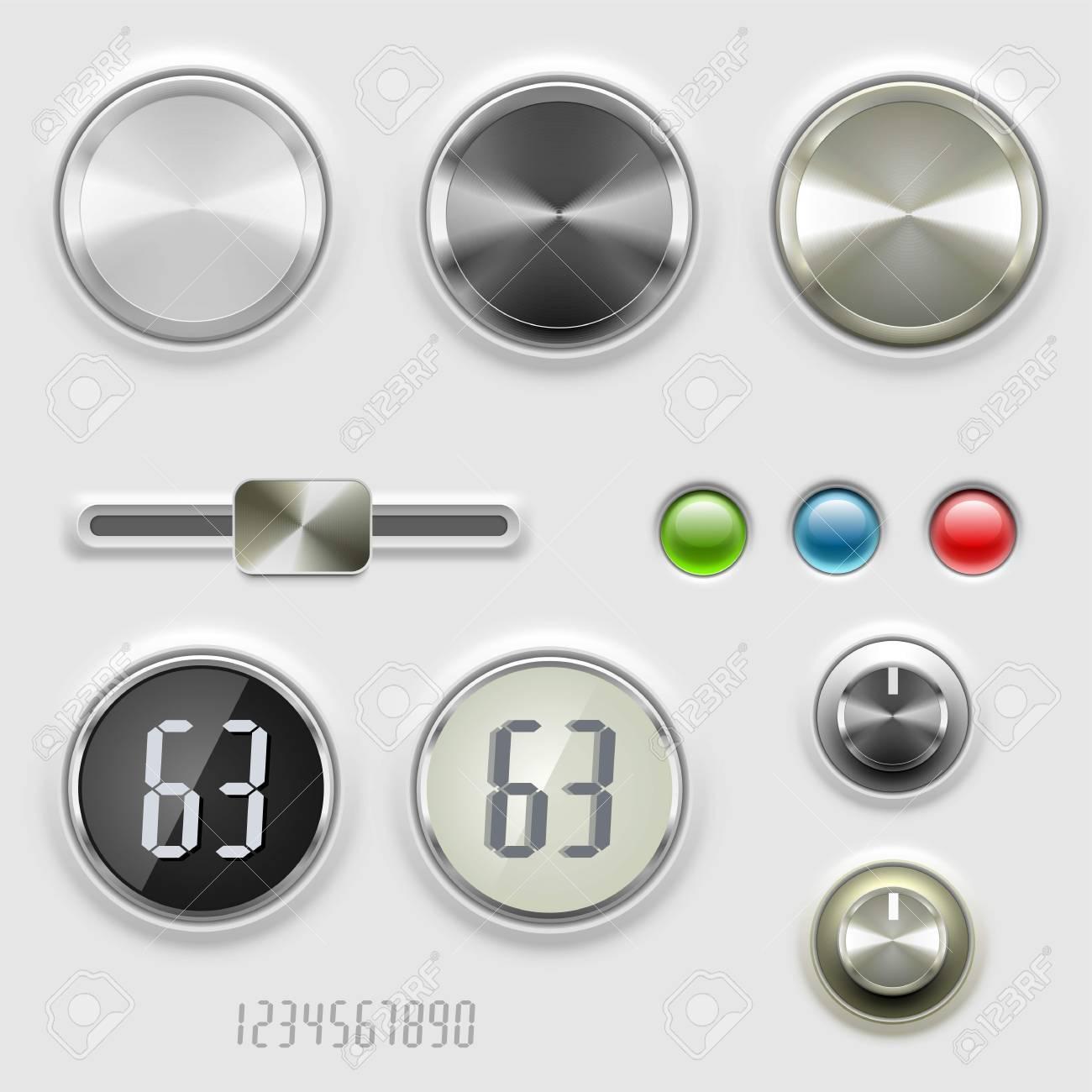 vector dials volume control Stock Vector - 14850455