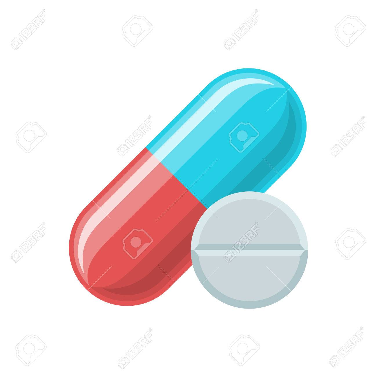 Pill And Tablet Icon Pills Vector Illustration Medical And
