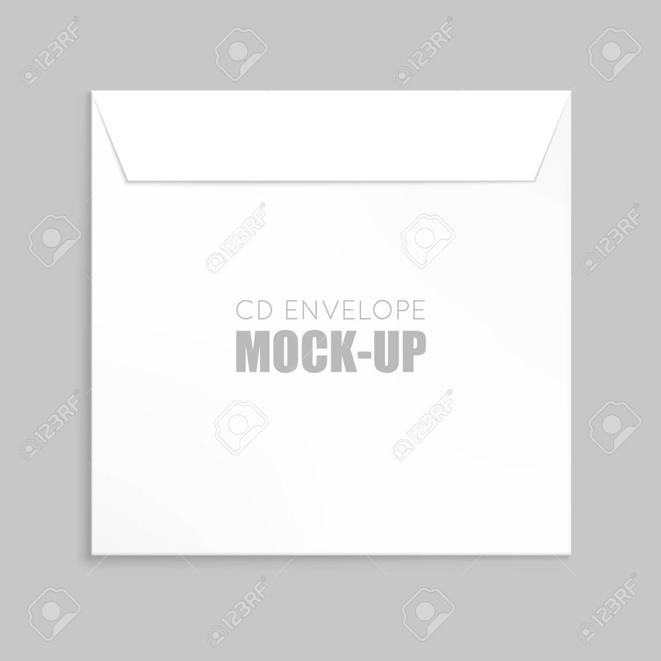 White Cover For Compact Disc Mock Up Template White Envelope – Compact Cd Envelope Template