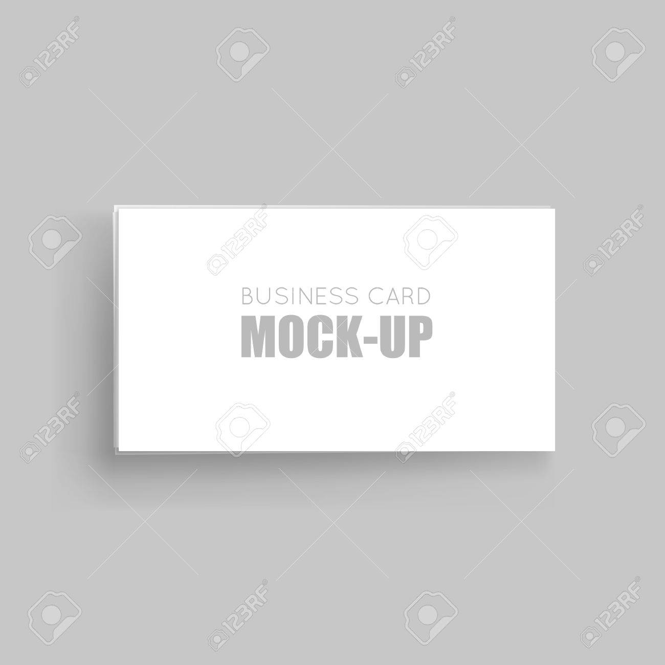 Business Cards Blank Mockup-template. Business Card Identity ...
