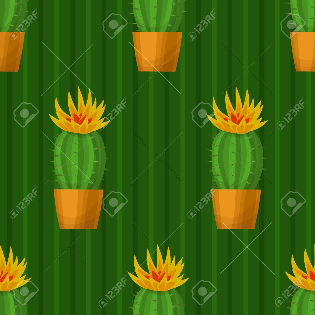 Modèle Sans Couture Avec Cactus Illustration Vectorielle De Papier