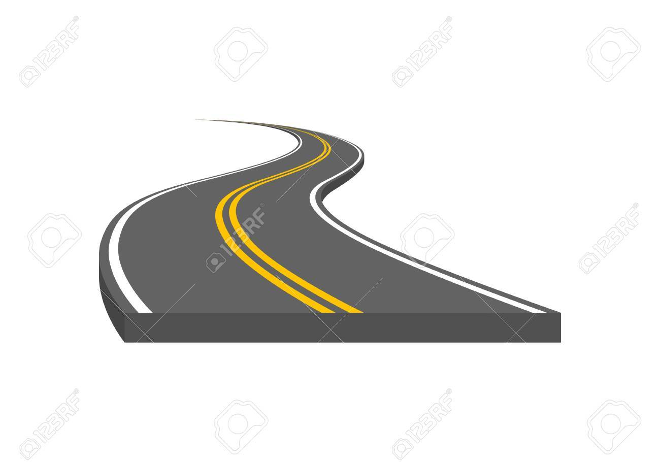road vector illustration curved highway with markings royalty free rh 123rf com road vector free road vector png