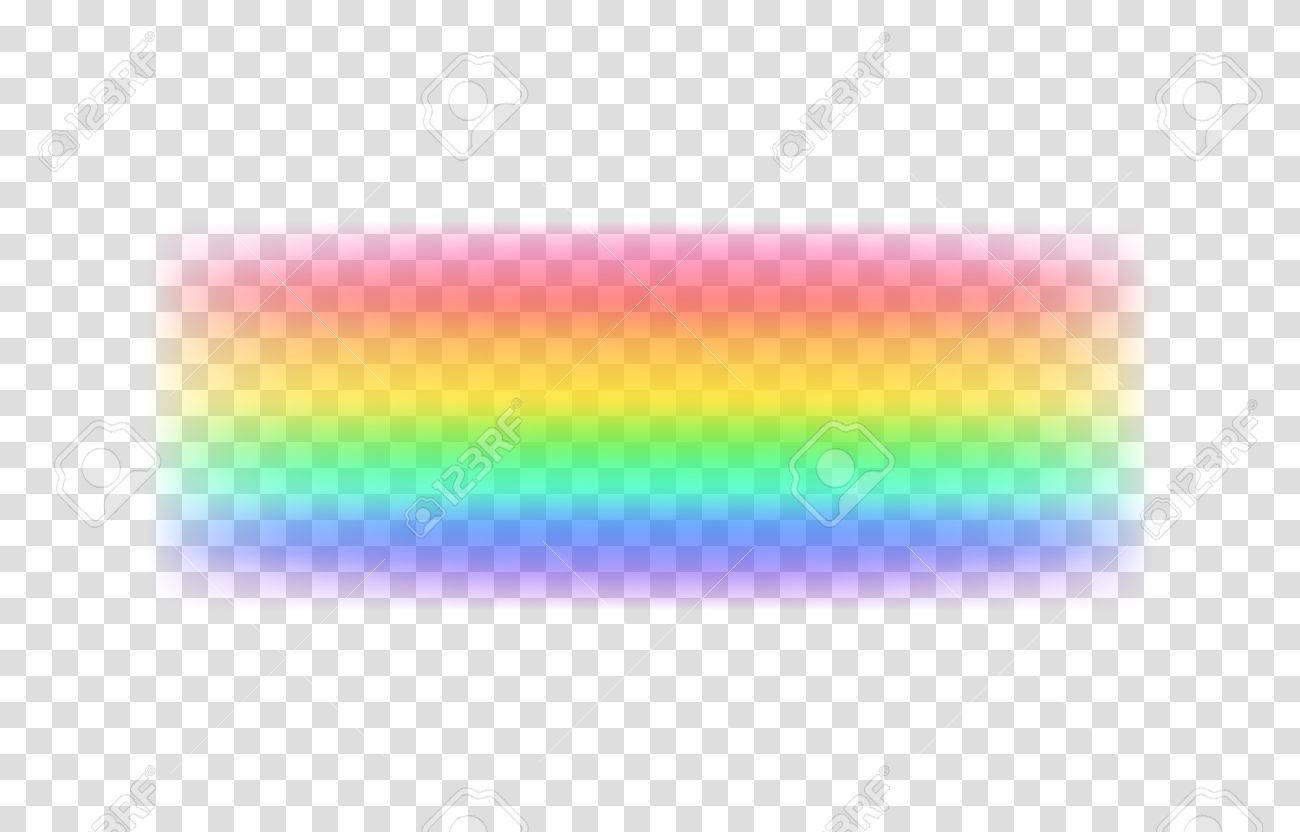 Transparent Rainbow Vector Illustration Realistic Raibow On Background Stock