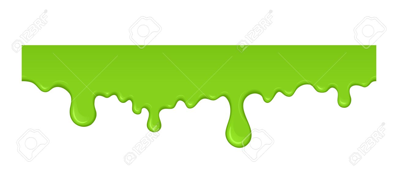 Green Slime Dripping Radioactive Splash Liquid For Halloween