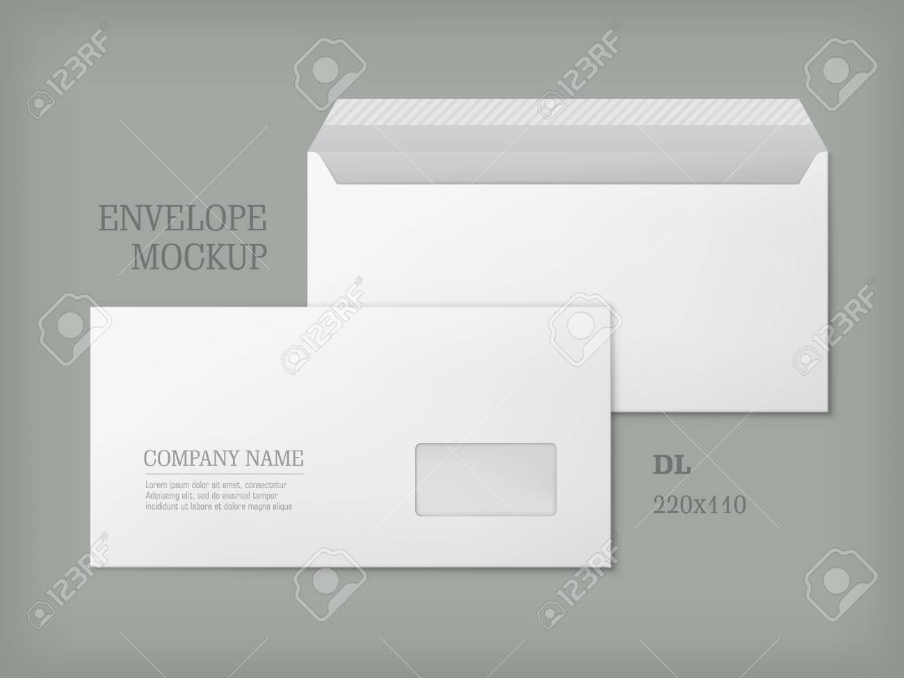 Open and closed white empty envelopes for letters and documents open and closed white empty envelopes for letters and documents paper blank template with transparent spiritdancerdesigns Images