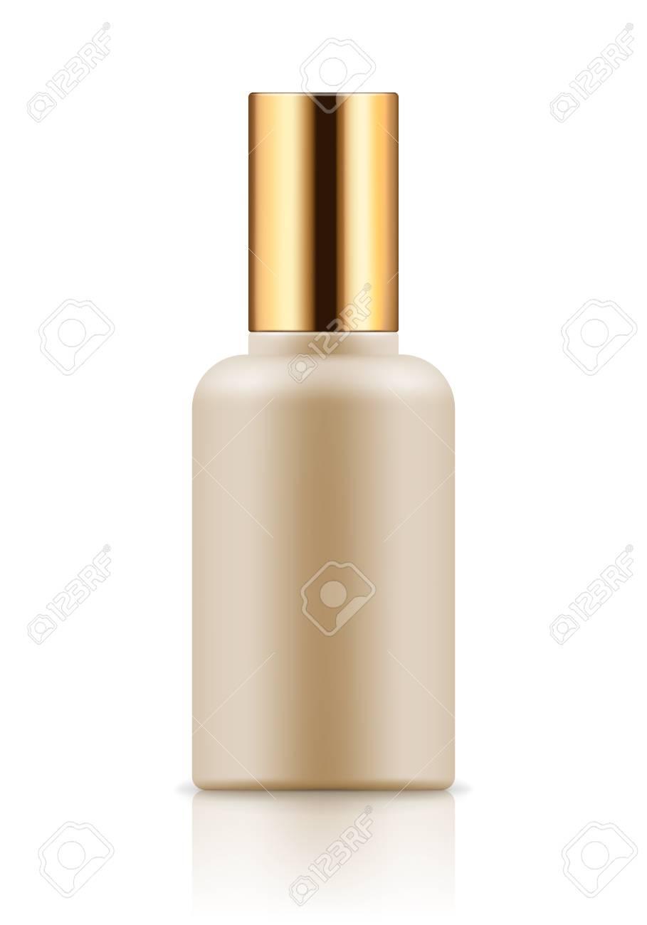 Mock-up of white plastic bottle - 74370256