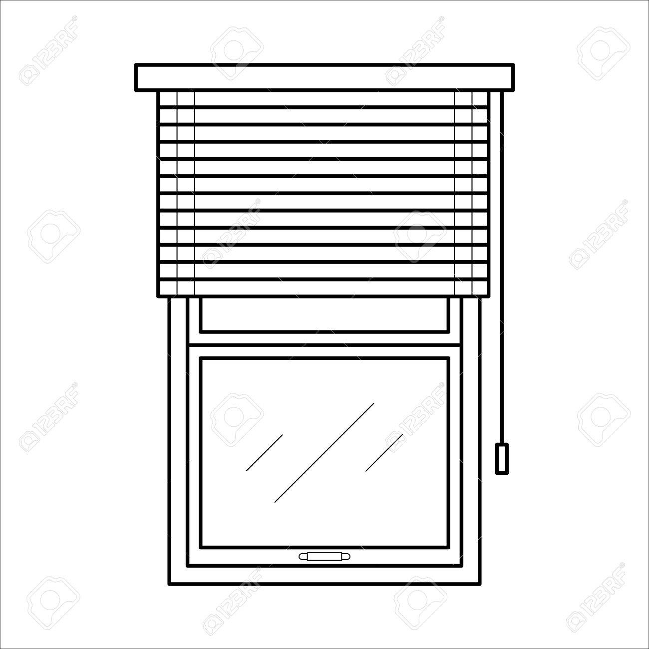 Blinds Jalousie Or Horizontal Louvers Royalty Free Cliparts