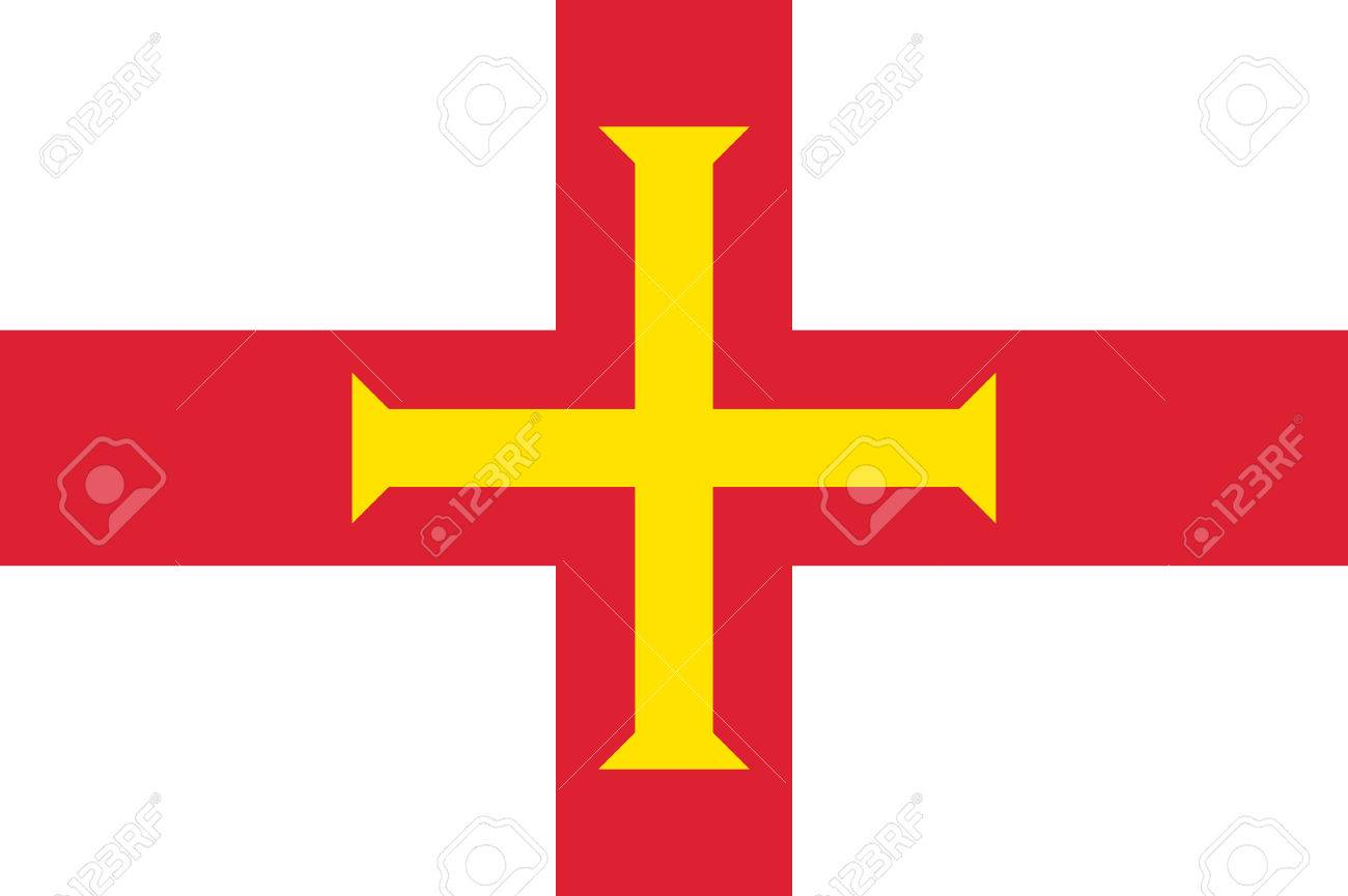 Guernsey, island in the English Channel, civil and state flag,