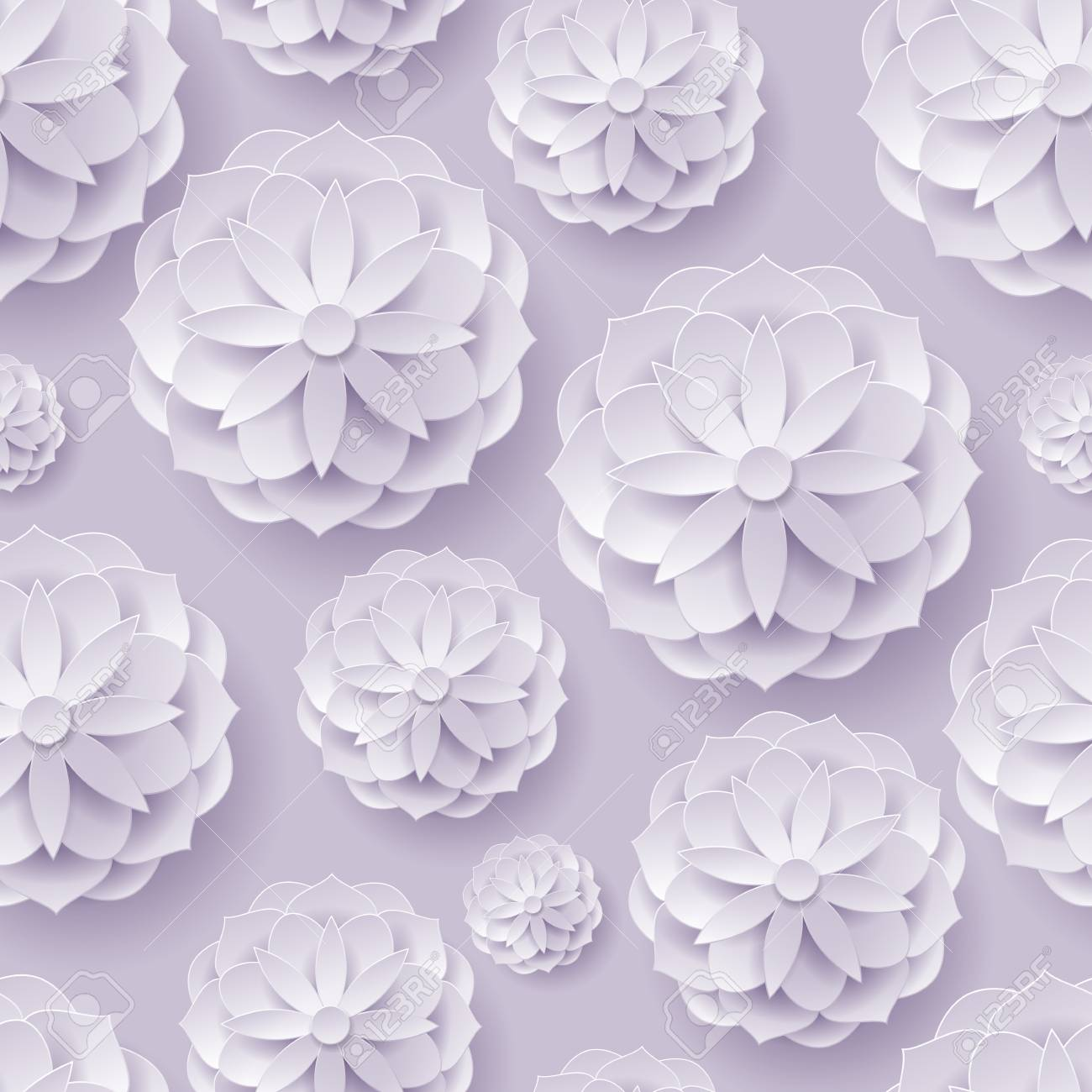 Paper volume flowers lilac background seamless royalty free stok paper volume flowers lilac background seamless stok fotoraf 87688488 mightylinksfo