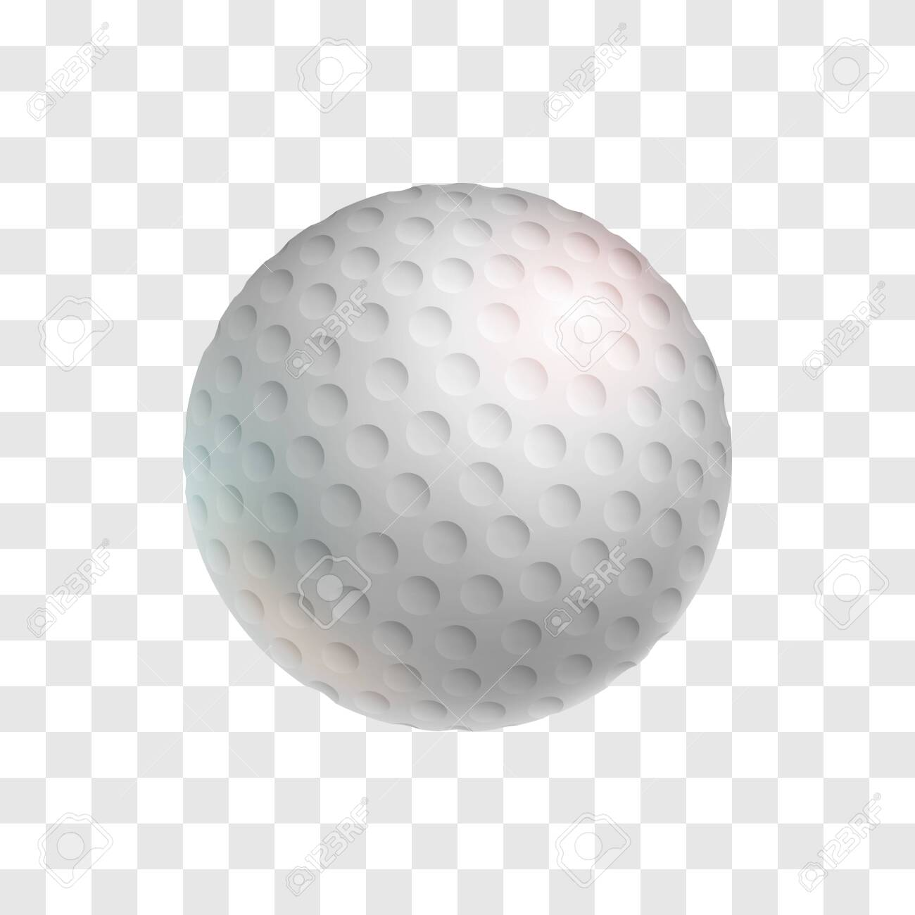 Realistic White Golf Ball Isolated On Transparent Background Royalty Free Cliparts Vectors And Stock Illustration Image 141607329