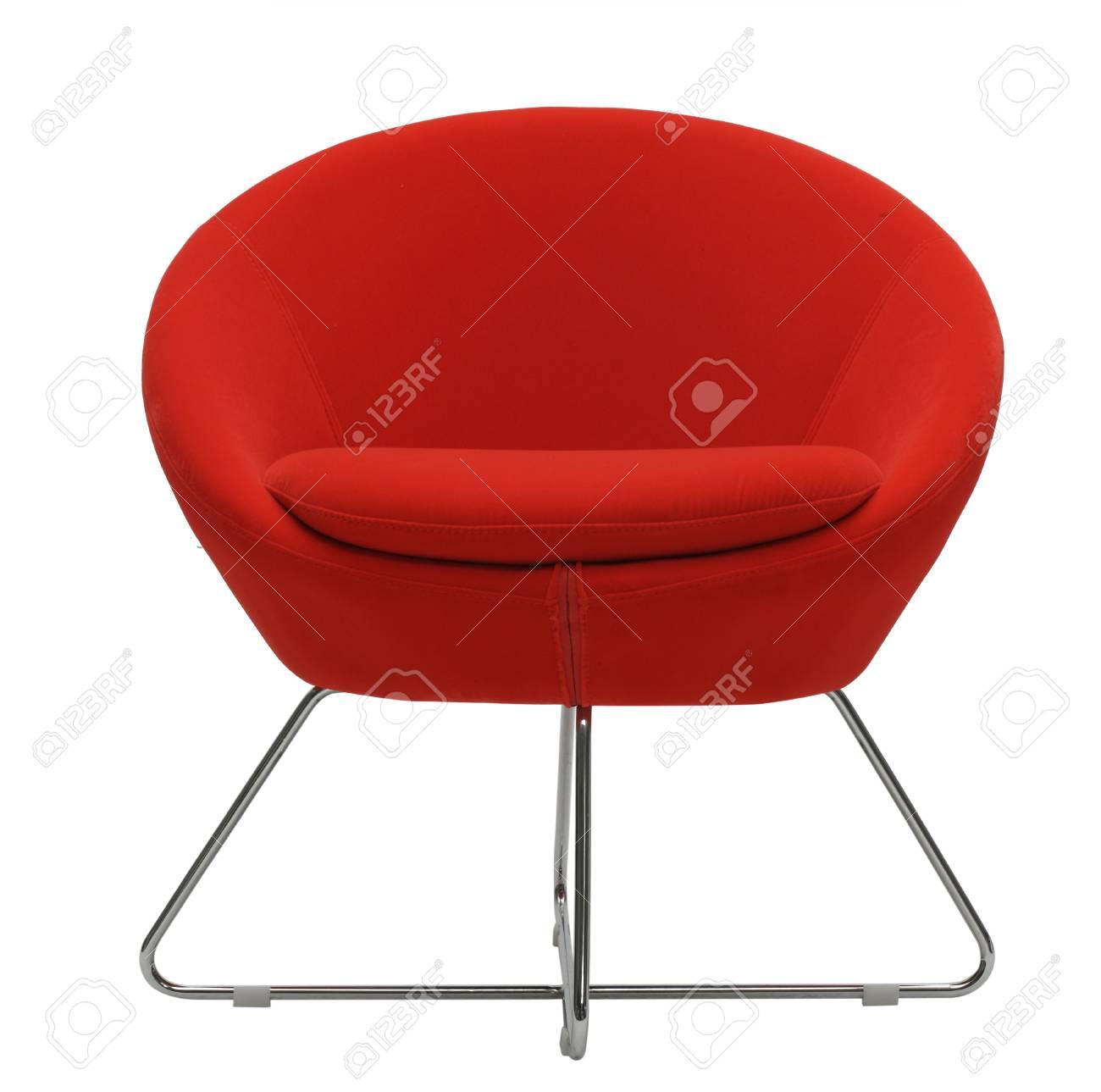 Decouper Le Rouge Chaise Confortable Et Moderne Banque D Images Et