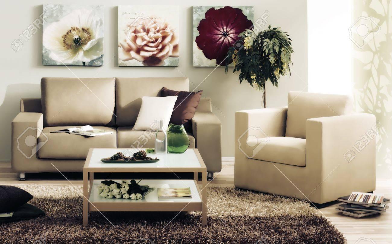 modern living room Stock Photo - 12525725