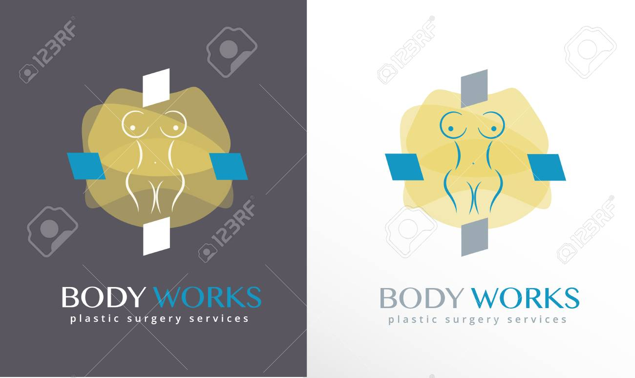 Woman S Body Silhouette Abstract Cross Plastic Surgeon Logo Royalty Free Cliparts Vectors And Stock Illustration Image 109823897