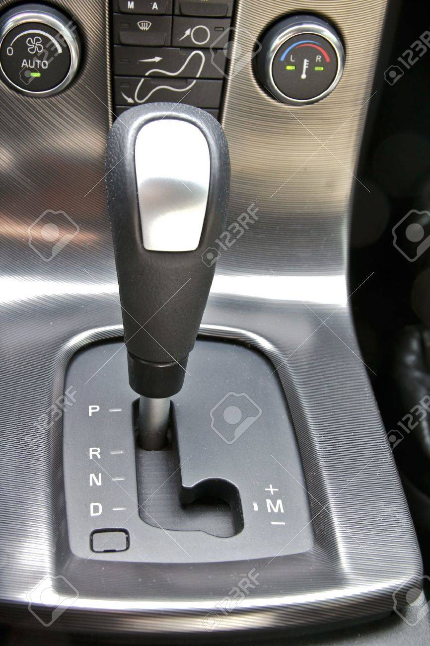 Gear shift handle in sport car Stock Photo - 9124184