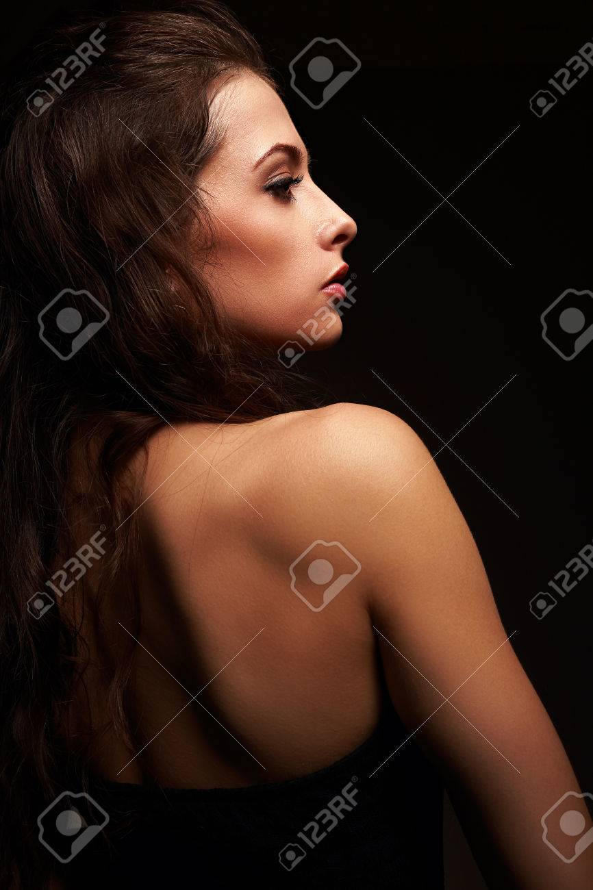 Sexy black hair girls back pictu photo 240