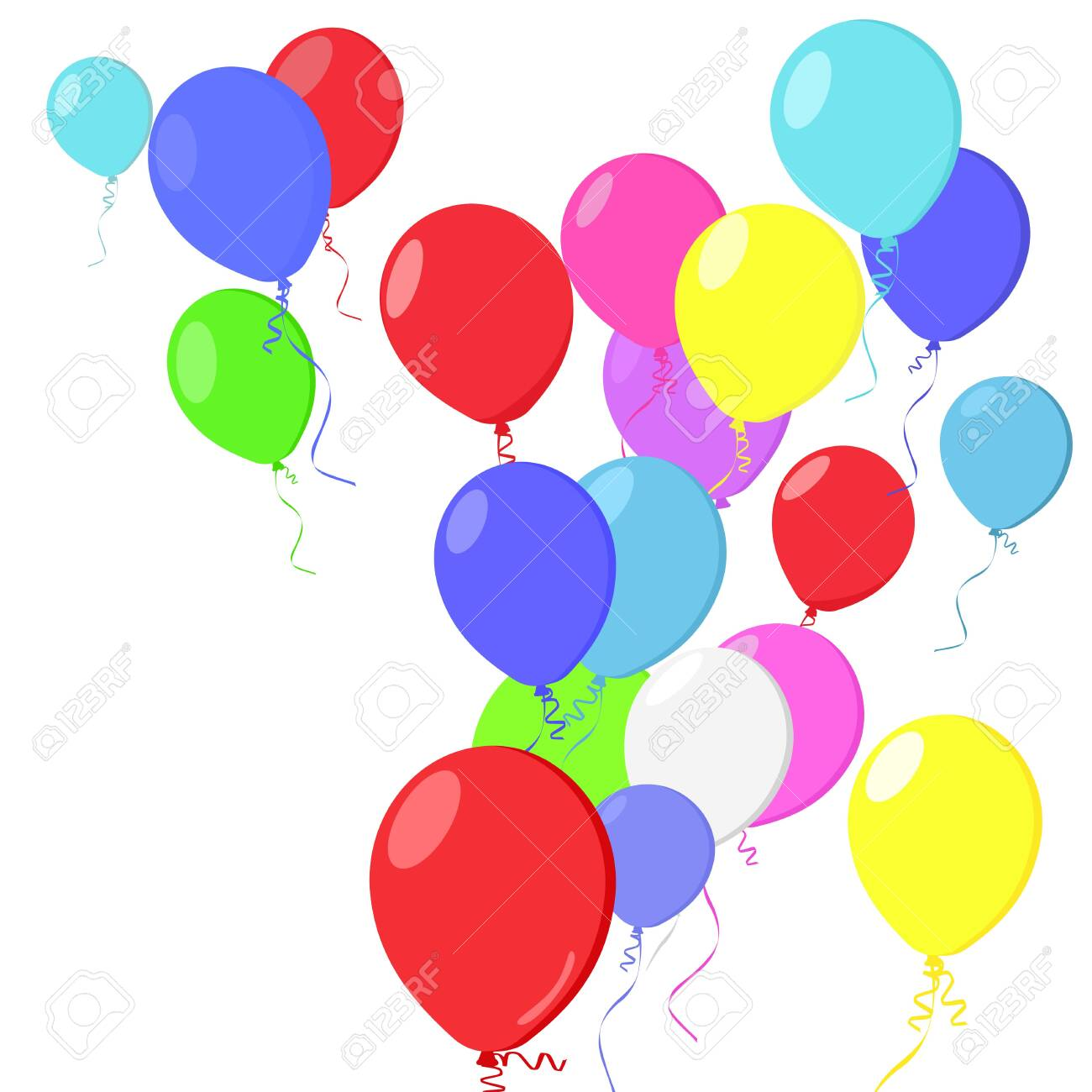 Happy Birthday Balloons Vector On A Transparent Background Royalty Free Cliparts Vectors And Stock Illustration Image 142121074 Select a size birthday baloons. happy birthday balloons vector on a transparent background