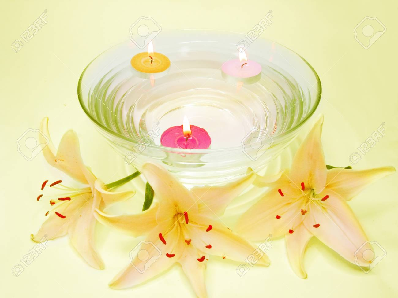 Spa lit candles lilies flowers health care treatment stock photo spa lit candles lilies flowers health care treatment stock photo 11331717 izmirmasajfo