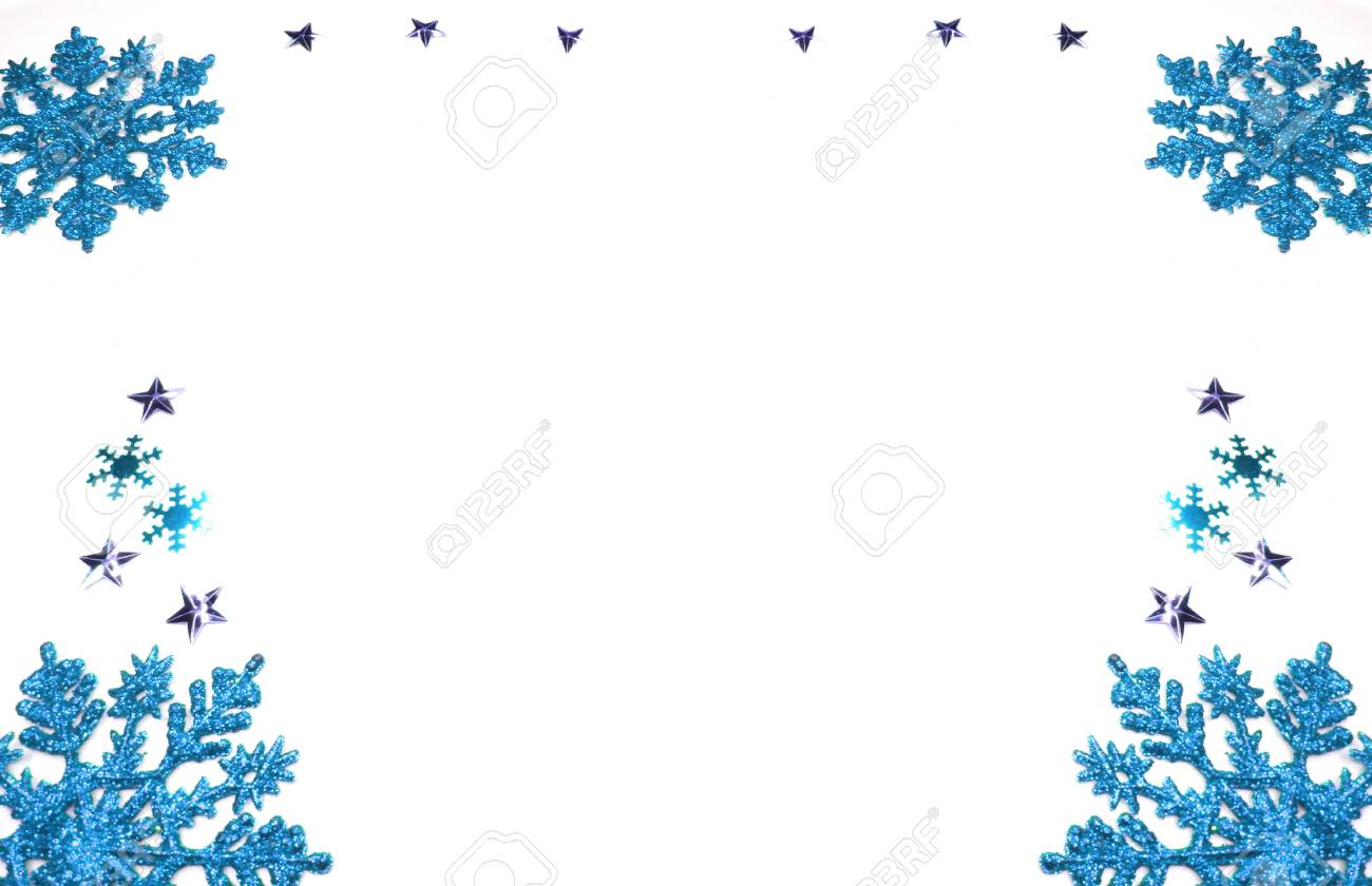 christmas background with fir branches frame and copy space