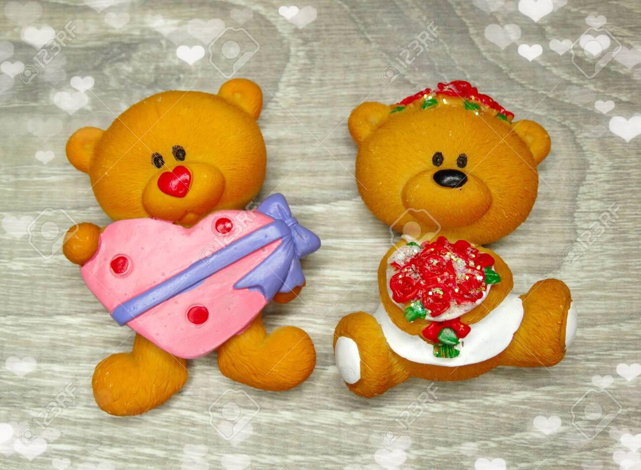 Valentine  Love Fabric PANEL to Sew 3-8 x 8 Ready to Sew Valentine  Share Love Teddy Bear Bear with Hearts Appliqu\u00e9 Pillow etc