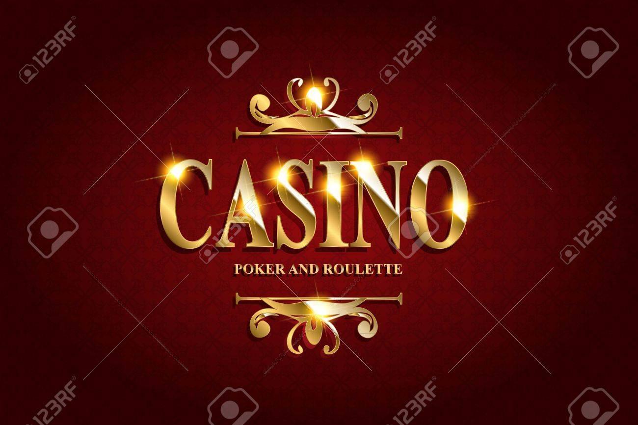 Casino Plakat-Hintergrund Oder Mit Fallen Goldene Geld Münzen ...